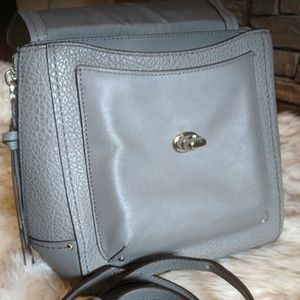 Coach-New with tags, gray pebble leather bag